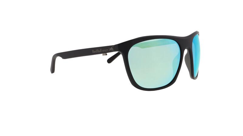Red Bull SPECT Rocket Sunglasses Men, matt black/green-aqua mirror