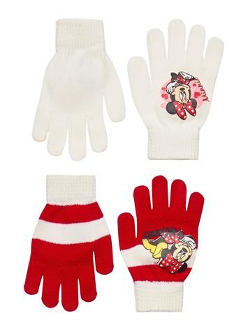 Disney Set 2 Pcs Hat & Gloves Hanskat Käsineet Punainen Disney RED