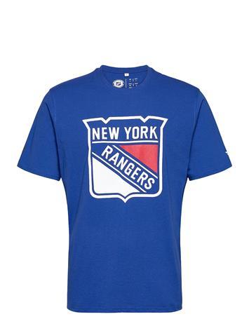 Fanatics New York Rangers Mid Essentials Primary Colour Logo T-shirts Short-sleeved Sininen Fanatics ROYAL