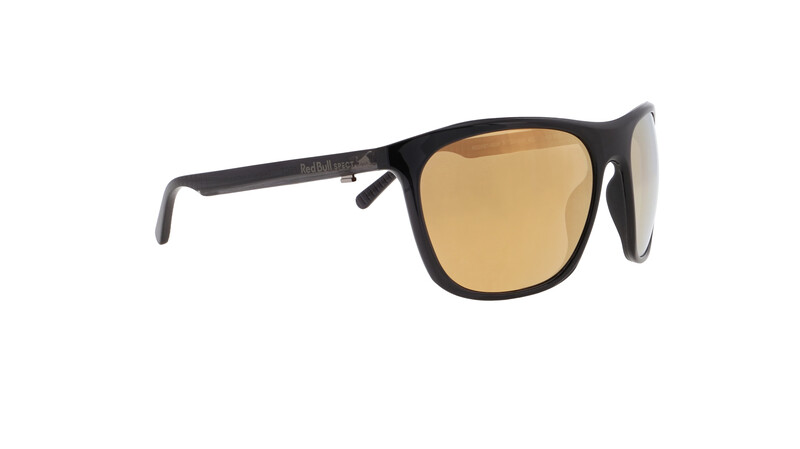 Red Bull SPECT Rocket Sunglasses Men, shiny x'tal black/brown-gold mirror