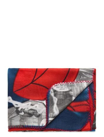 Marvel Plaid Home Sleep Time Blankets & Quilts Punainen Marvel RED