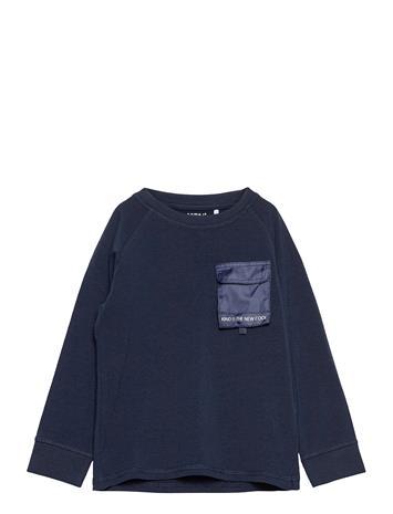 name it Nmmtamal Ls Top T-shirts Long-sleeved T-shirts Sininen Name It DARK SAPPHIRE