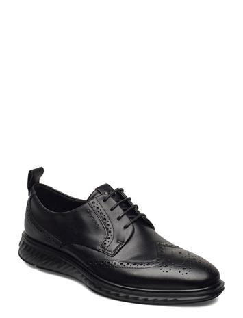 ECCO St.1 Hybrid Lite Shoes Business Laced Shoes Musta ECCO BLACK