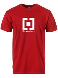Horsefeathers Base T-Shirt red Miehet