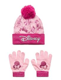 Disney Set 2 Pcs Hat & Gloves Accessories Headwear Hats Vaaleanpunainen Disney PINK