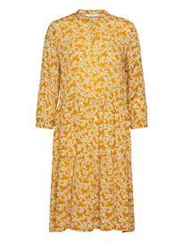 Nä¼mph Nubijou Dress Lyhyt Mekko Keltainen Nä¼mph BUCKTHORN BROWN