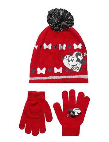 Disney Set 2 Pcs Hat & Gloves Accessories Headwear Hats Punainen Disney RED