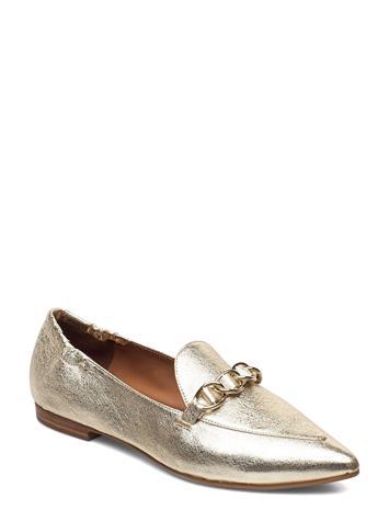 Billi Bi Shoes 54503 Loaferit Matalat Kengät Kulta Billi Bi METAL CRACKELE GOLD 002