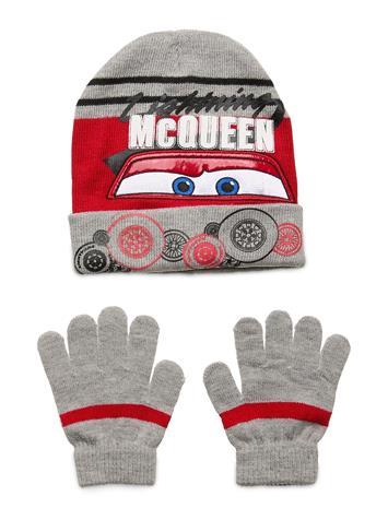 Disney Set 2 Pcs Hat & Gloves Accessories Headwear Hats Harmaa Disney LGREY