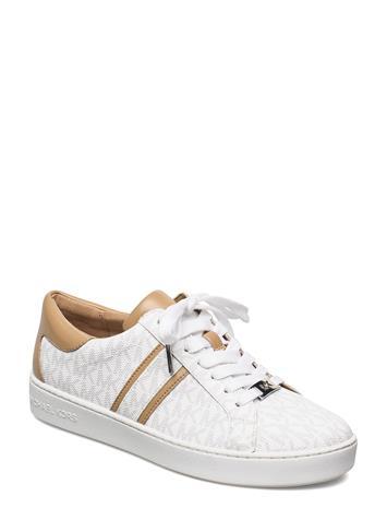 Michael Kors Shoes Keaton Stripe Sneaker Matalavartiset Sneakerit Tennarit Valkoinen Michael Kors Shoes BRIGHT WHT