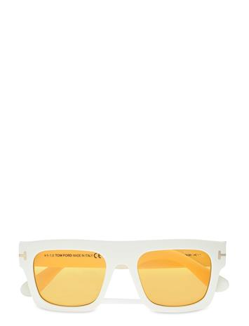 Tom Ford Sunglasses Fausto Wayfarer Aurinkolasit Valkoinen Tom Ford Sunglasses IVORY