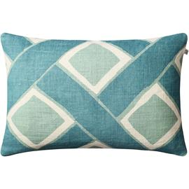 Chhatwal & Jonsson Chhatwal & Jonsson-Bali Cushion Cover 40x60 cm, Off White / Heaven Blue / Aqua