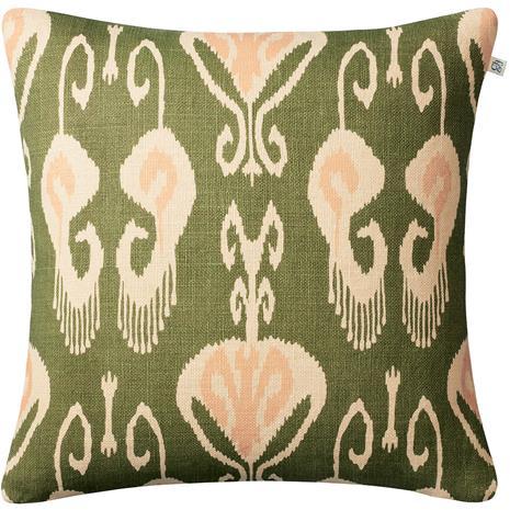Chhatwal & Jonsson Chhatwal & Jonsson-Nur Cushion Cover 50x50 cm, Light Beige / Cactus Green / Rose