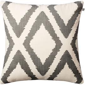 Chhatwal & Jonsson Chhatwal & Jonsson-Diamond Cushion 50x50 cm, Grey / Off White