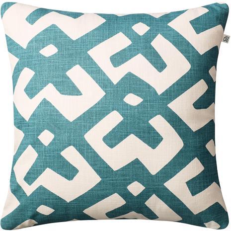 Chhatwal & Jonsson Chhatwal & Jonsson-Dadra Cushion 50x50 cm, Heaven Blue / Off White