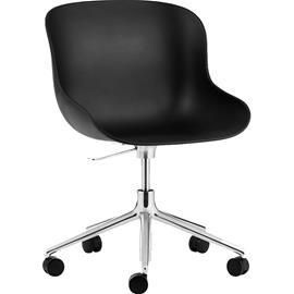 Normann Copenhagen Normann Copenhagen-Hyg Swivel Chair 5W, Aluminium/Black