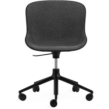 Normann Copenhagen Normann Copenhagen-Hyg Swivel Chair 5W Upholstered, Main Line Flax, Black/Black
