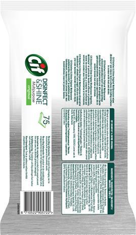 Cif Disinfect & Shine 75 kpl yleispuhdistusliina