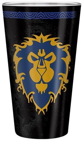 World Of Warcraft - For The Alliance - Juomalasi - Unisex - Musta punainen