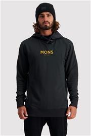 Mons Royale Miesten Decade Logo Huppari - Merinovillaa, Black / XL