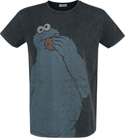 Seesamtie - The Cookie Monster - Cookie - T-paita - Miehet - Musta