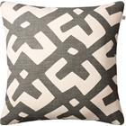 Chhatwal & Jonsson Dadra Cushion 50x50 cm, Grey / Off White