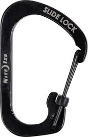 Nite Ize Slidelock Carabiner Stainless Steel #2 Musta