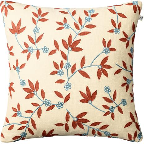 Chhatwal & Jonsson Chhatwal & Jonsson-Gita Cushion Cover 50x50 cm, Light Beige / Apricot Orange / Heaven Blue