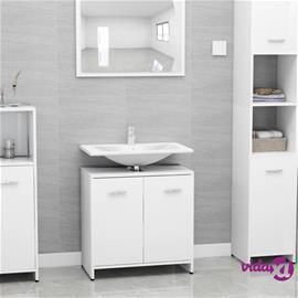 vidaXL Kylpyhuonekaappi valkoinen 60x33x58 cm lastulevy