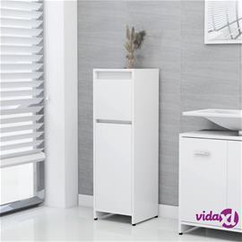 vidaXL Kylpyhuonekaappi valkoinen 30x30x95 cm lastulevy