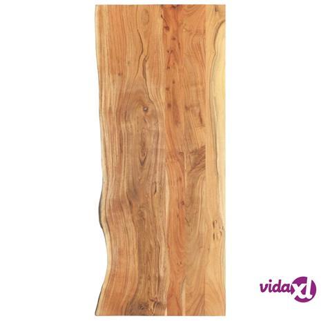 vidaXL Kylpyhuoneen peilipöydän levy täysi akaasiapuu 140x55x3,8 cm