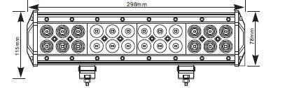 Arctic Bright ECO72P 72W combo (CM-5972), LED-työvalo