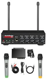 Audio Design Pro PMU 502M, karaokemikseri ja 2 langatonta mikrofonia