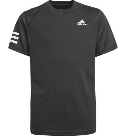 Adidas BOYS CLUB 3STR TEE JR BLACK/WHITE
