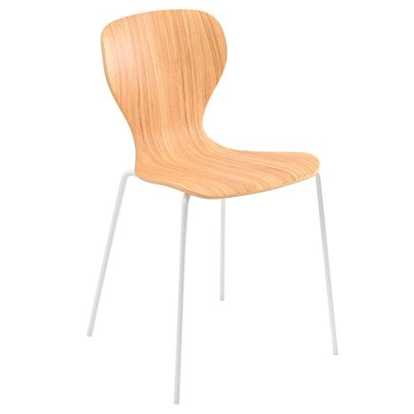 Viccarbe Ears tuoli, valkoinen metalli - matta tammi