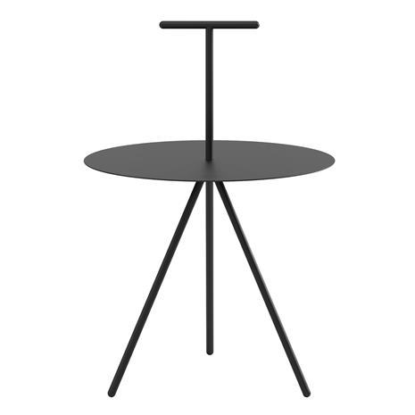 Viccarbe Trino sivupöytä, musta - teräskahva