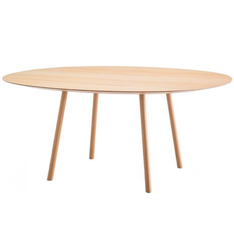 Viccarbe Maarten pöytä, 160 cm, ovaali, matta tammi