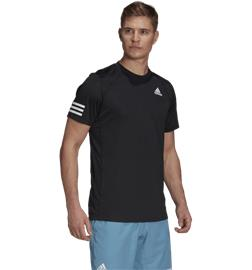 Adidas M CLUB 3-STRIPE TEE BLACK/WHITE