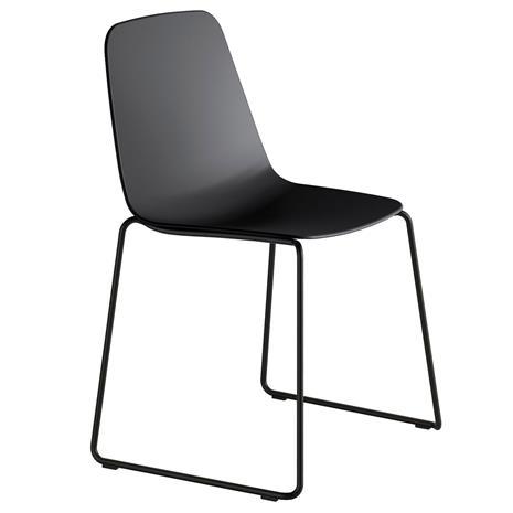 Viccarbe Maarten tuoli, kelkkajalka, musta