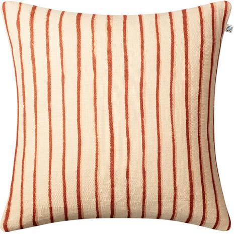 Chhatwal & Jonsson Jaipur Stripe Cushion Cover 50x50 cm Light Beige / Apricot Orange / Rose