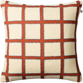 Chhatwal & Jonsson Amar Cushion Cover 50x50 cm, Light Beige / Apricot Orange / Heaven Blue