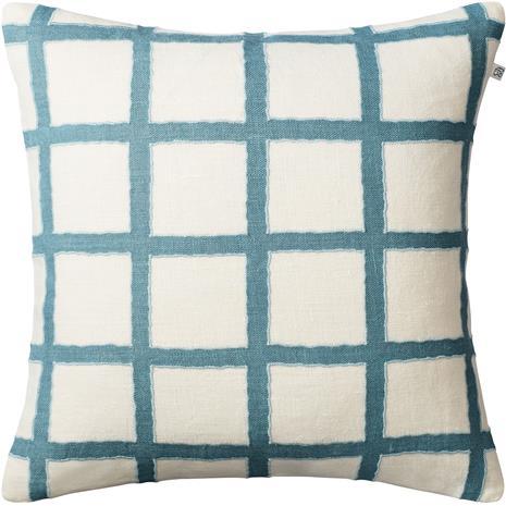Chhatwal & Jonsson Amar Cushion Cover 50x50 cm, Off White / Heaven Blue / Aqua