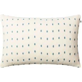 Chhatwal & Jonsson Drop Cushion Cover 40x60 cm, Off White/Heaven Blue/Aqua