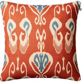 Chhatwal & Jonsson Nur Cushion Cover 50x50 cm, Light Beige / Apricot Orange / Heaven Blue