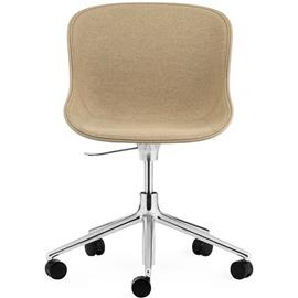Normann Copenhagen Hyg Swivel Chair 5W Upholstered, Main Line Flax, Aluminium/Sand
