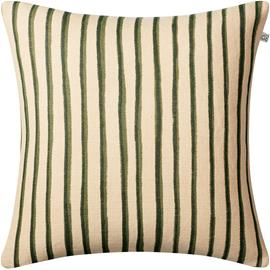 Chhatwal & Jonsson Jaipur Stripe Cushion Cover, Green 50x50 cm Light Beige / Cactus Green / Green