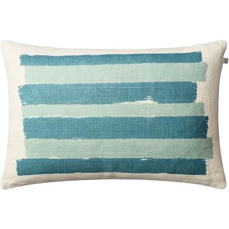 Chhatwal & Jonsson Asha Cushion Cover 40x60 cm, Off White / Heaven Blue / Aqua