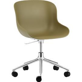 Normann Copenhagen Hyg Swivel Chair 5W, Aluminium/Olive