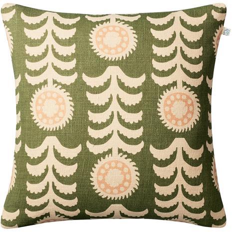 Chhatwal & Jonsson Alok Cushion Cover 50x50 cm, Light Beige / Cactus Green / Rose