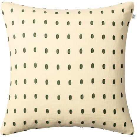 Chhatwal & Jonsson Drop Cushion Cover Light Beige / Cactus Green / Green, 50x50 cm